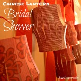 Chinese Lantern Bridal Shower